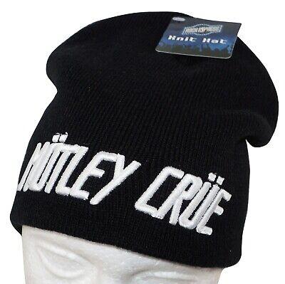 MOTLEY CRUE ROCK BAND - KNIT BEANIE BLACK CAP HAT NEW 2010