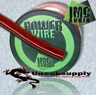 RED 4 Gauge Power Amplifier Wire  25 feet ft  4 AWG Primary Cable Guage 4 Awg Power Amplifier