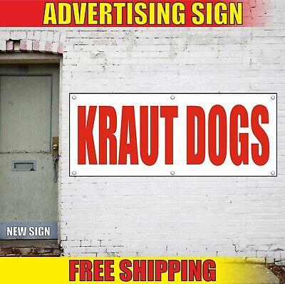 Kraut Dogs Banner Advertising Vinyl Sign Flag Restaurant Food Hot Fresh Chili