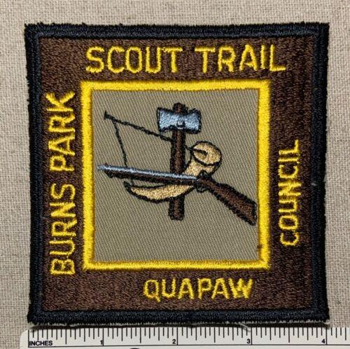 Vintage BURNS PARK TRAIL Boy Scout PATCH Quapaw Area Council BSA Camp Hike