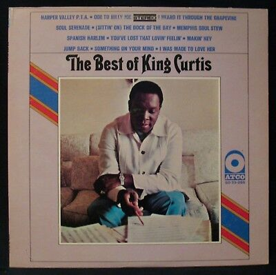 KING CURTIS-The Best Of King Curtis-Near Mint Soul & Funk Album-ATCO #SD