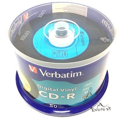 Verbatim 94587 CD-R 700 MB 52X Digital Vinyl - 50-Disc Spindle Multi Color Seal