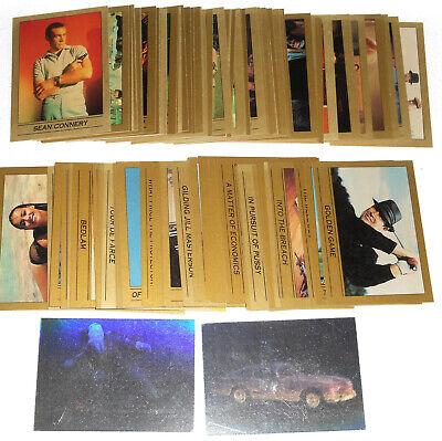 James Bond 007 Series 1 Trading Card Set 110 Cards + 2 Holograms 1993 Eclipse