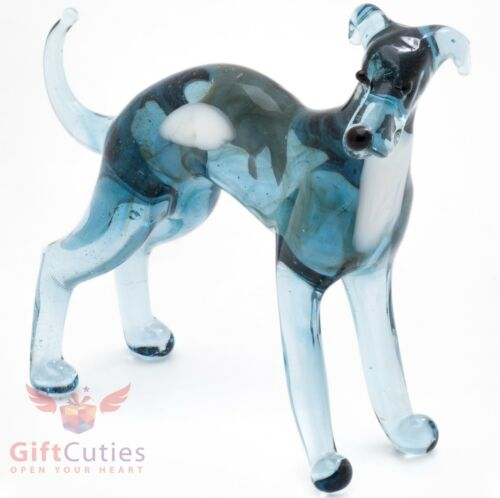 Art Blown Glass Figurine of the Whippet Dog