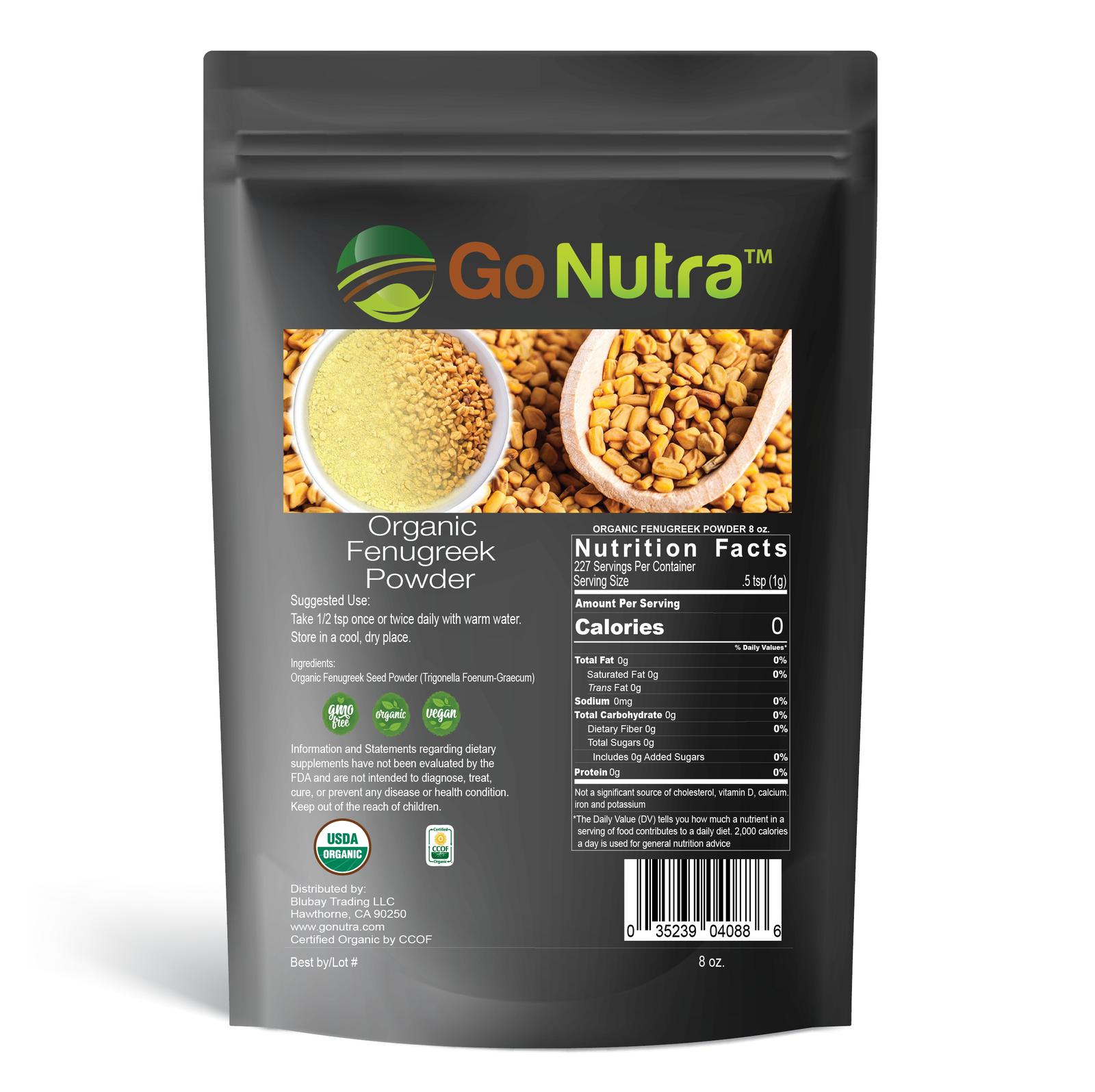 Fenugreek Seed Powder Organic 8oz 1lb Pure