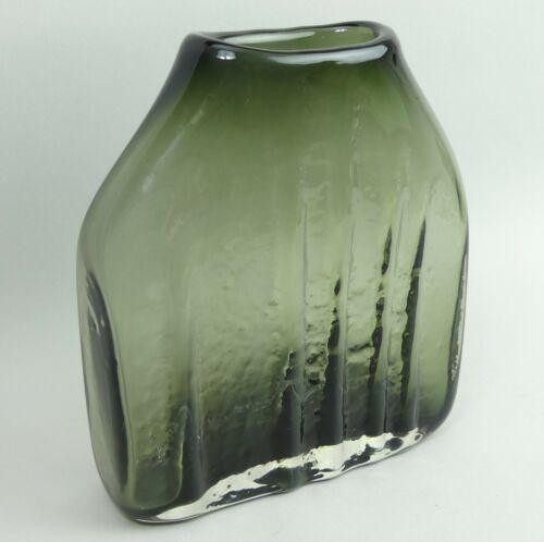 WHITEFRIARS BAXTER DESIGN WILLOW GLASS SHOULDER VASE C.1970