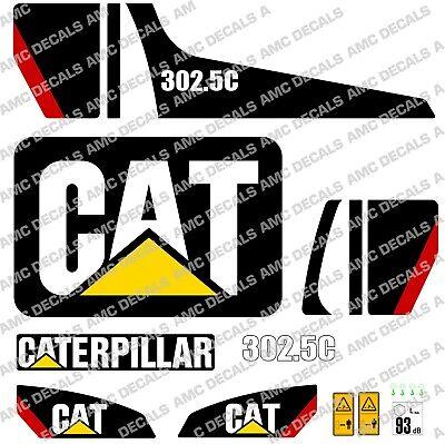 Caterpillar Cat 302.5c Digger Excavator Decal Sticker Set