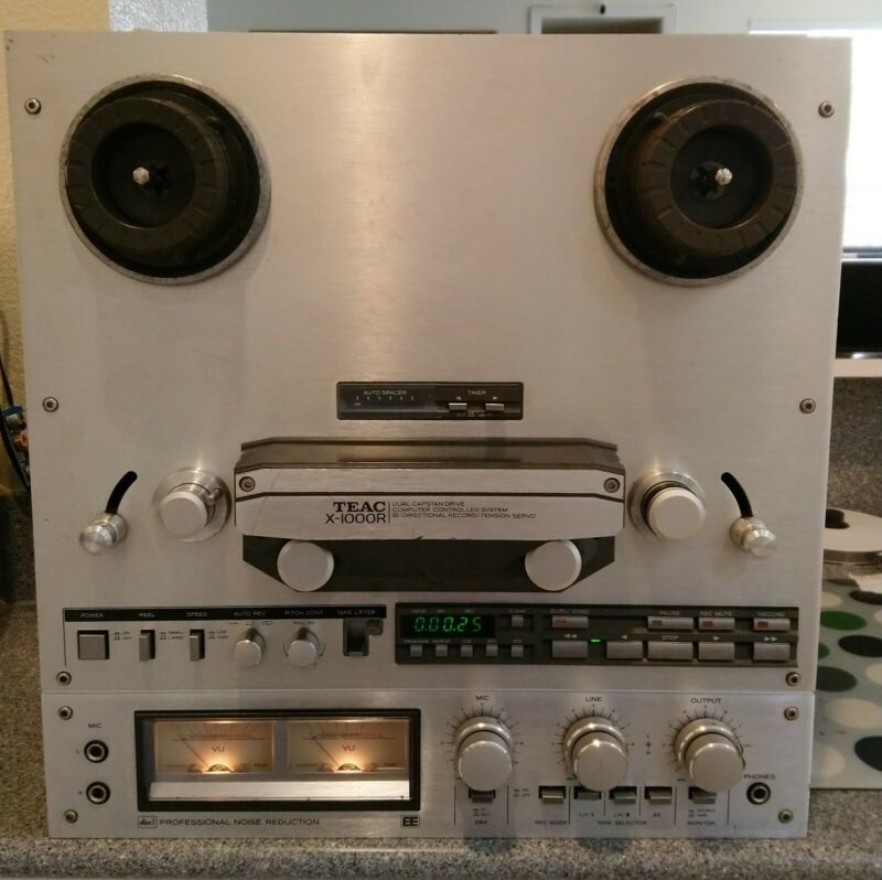 TEAC X-1000R Silver Open Reel to Reel Deck Serviced, Repaired (Item AS IS)