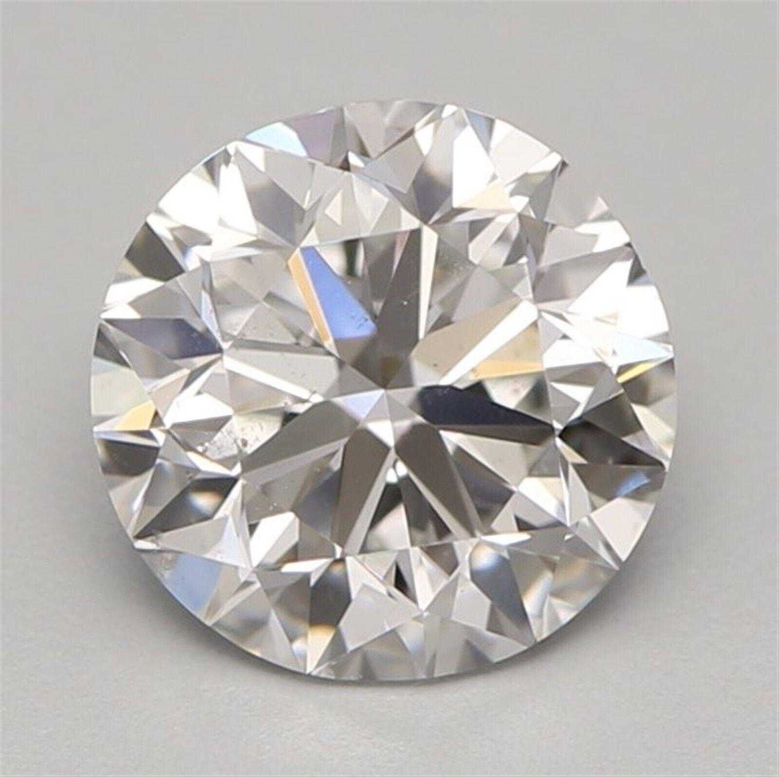 1.00 ct E Color SI1 Clarity Round 100% Natural Loose Diamond VG Cut GIA FL None
