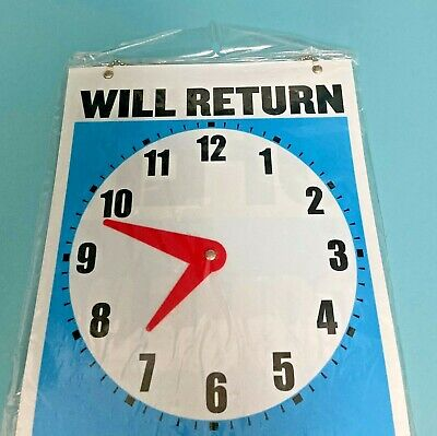 Double Sided Will Return Clock And Opencome In Sign With Chain