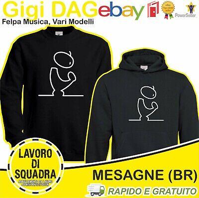 Felpa - Gigi D'Agostino - gigi dag dj disco ba ba be bla ble DISCO Regalo Music