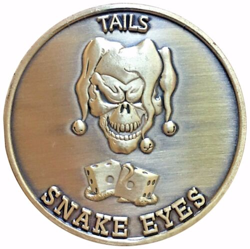 Gamblers Creed Lucky Mojo Heads Tail Good Luck Token Challenge Coin FAST SHIPPIN