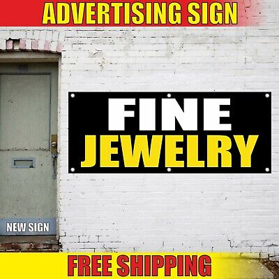 Fine Jewelry Banner Advertising Vinyl Sign Flag Sale Pawn Gems Shop Store Salon