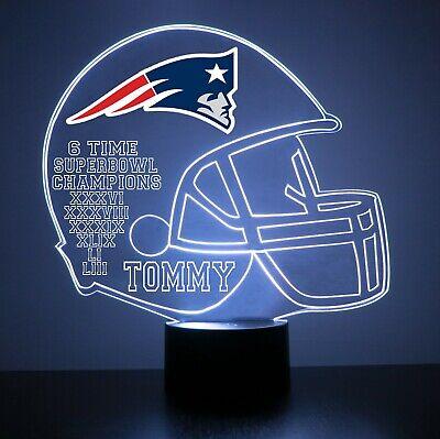 New England Patriots Night Light Lamp Personalized FREE NFL Football Light - Personalized Footballs