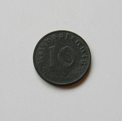 DRITTES REICH: 10 Reichspfennig 1943 F, J. 371, prägefrisch/unc., MÜNZGLANZ