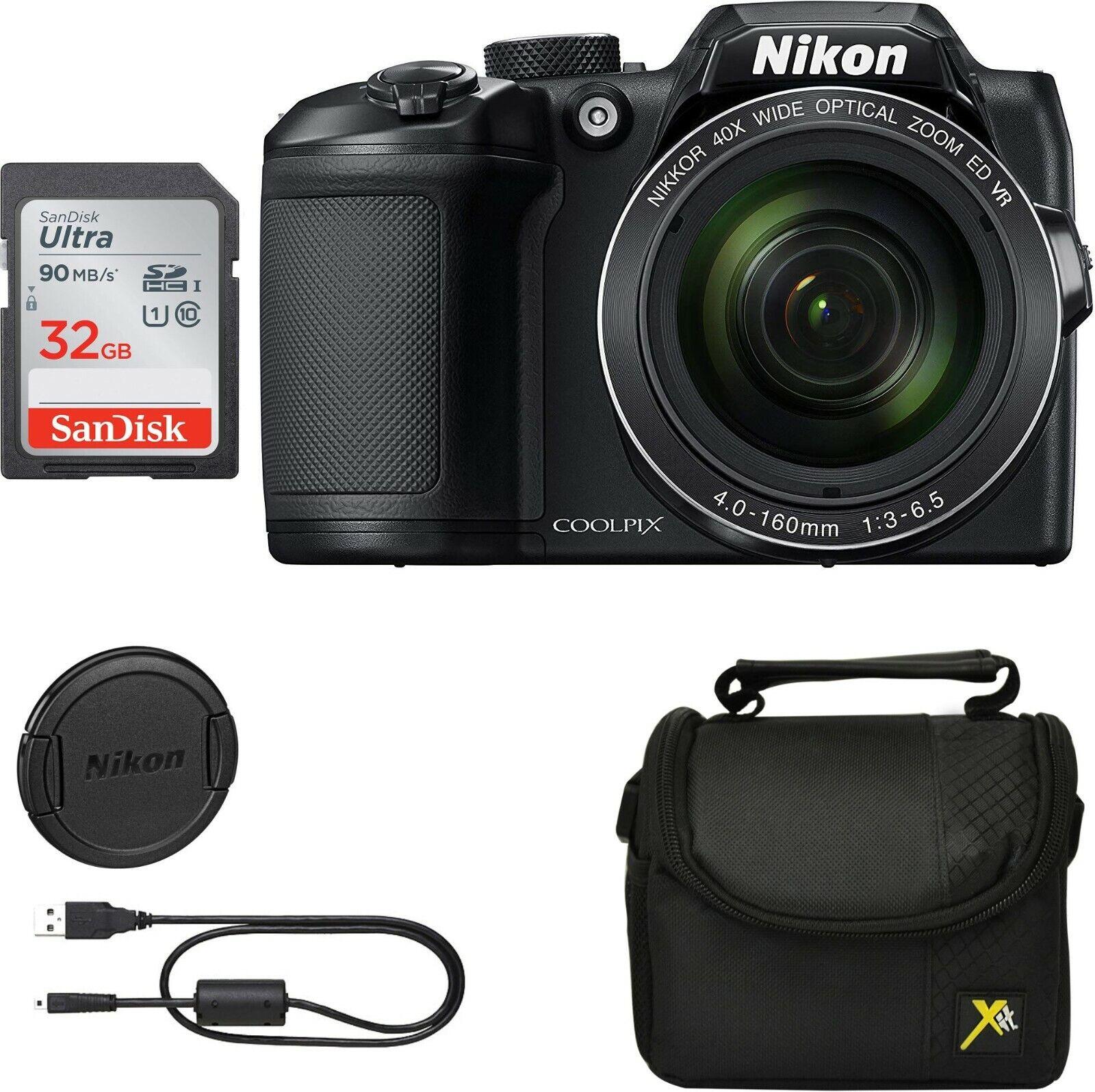 Nikon Coolpix B500 16MP Digital Camera 40x Zoom Black Full-H