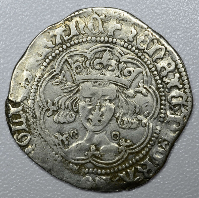 Great Britain 1 Groat (1485-1503)ND VF/EF silver Spink#2195 Henry VII Scarce