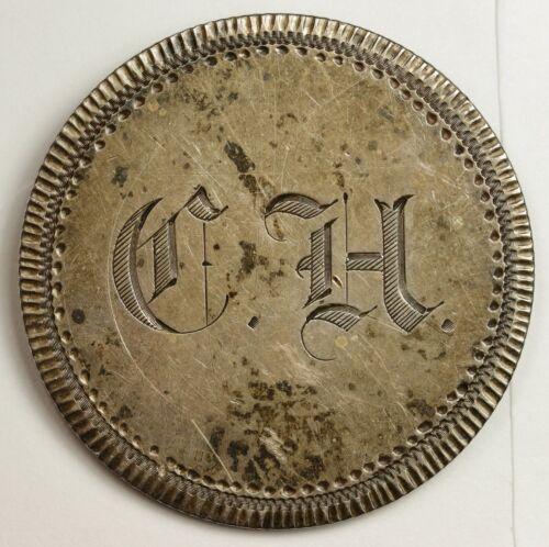 "1865 Liberty Seated Half.  Love Token.  Rare Date.  ""C.H.""  X.F.  137840"