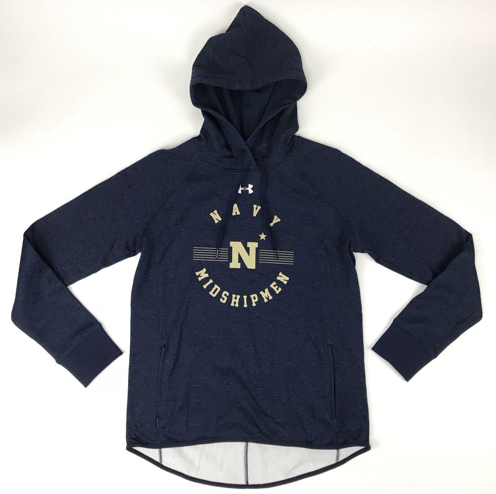 e497df07a005 Details about New Under Armour Women s S Navy Academy Midshipmen Double  Threat Fleece Hoodie