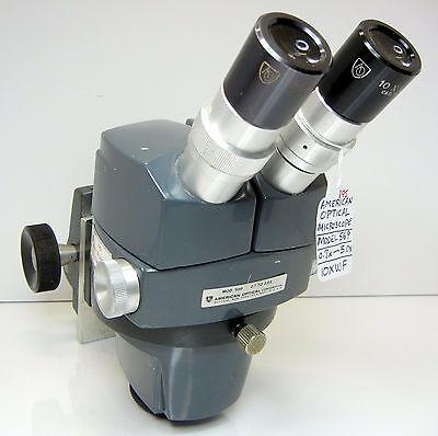 American Optical 569 Stereo Zoom Microscope Focus Holder 10xwf Eyes 30x Mag 195