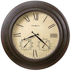 HOWARD MILLER - 625-464  LARGE 28 GALLERY INDOOR-OUTDOOR WALL CLOCK 625464