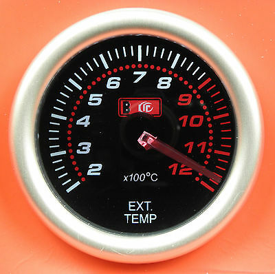 Universal 52mm Smoked Face Exhaust Gas Temp/Temperature EGT Gauge with sensor