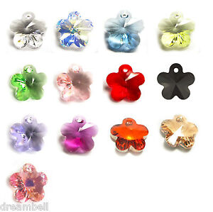 Swarovski-Crystal-Element-6744-Flower-Garden-Pendant-Charm-Many-Colors-Size