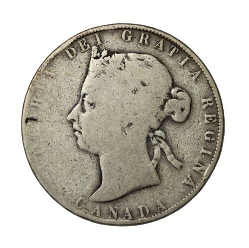 Canada 1900 Silver 50 Cents British Queen Victoria Coin KM#6