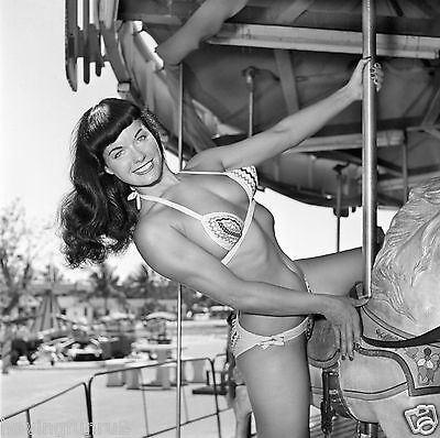 Bettie Page Sexy Pose On Merry Go Round  5 X 7  Photograph