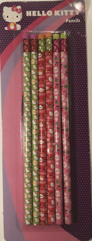 6 Pack Hello Kitty Pencils