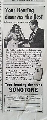 1948 vintage sonotone hearing aid you deserve the best (Best Hearing Aid Ads)