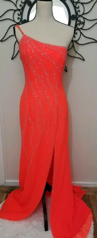 Alyce Designs Dress Size 10 Formal Orange Prom Homecoming