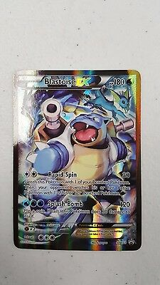 Blastoise EX XY122 Red Blue Collection Black Star Holo FULL ART Promo NM Pokemon