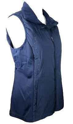 Lululemon Run For Cold Vest Zip Up Size 8 Lightweight Navy Blue W4IG6S