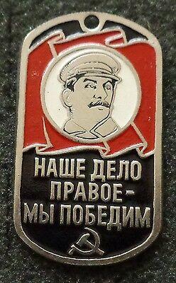 RUSSIAN DOG TAG PENDANT MEDAL  CCCP SOVIET  STALIN       #145S