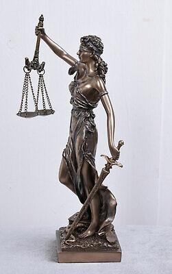 VINTAGE SCULPTURE ART NOUVEAU STYLE LADY JUSTICE FIGURE 12 inch Veronese