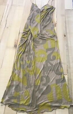 NWT Genny Dress Made In Italy Size 10 Green Numbers Numerals