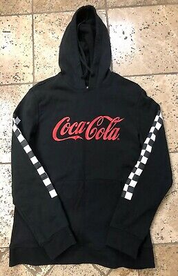 Pacsun x Coca-Cola Enjoy Side Tape Hoodie Red Size Medium NWOT Checkered
