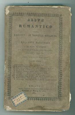 ALBUM ROMANTICO RACCOLTA NOVELLE STORICHE RACCONTI MARITTIMI INDICATORE LOMBARDO
