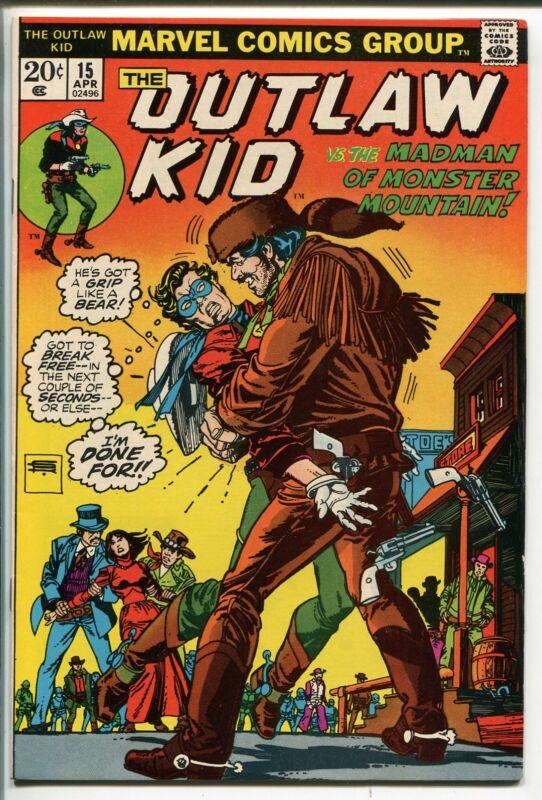 OUTLAW KID #15-1973-MARVEL-GIL KANE COVER-nm minus