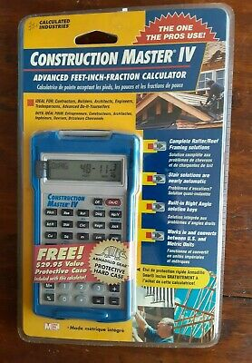 New Calculated Industries Construction Master 4 Model 4046 plus Armadillo Case