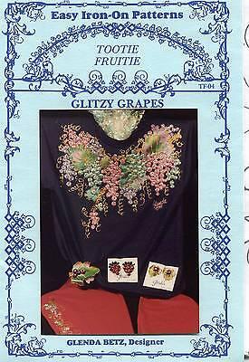 1990's Glenda Betz Glitzy Grapes Fashion  Design Iron-On  Pattern