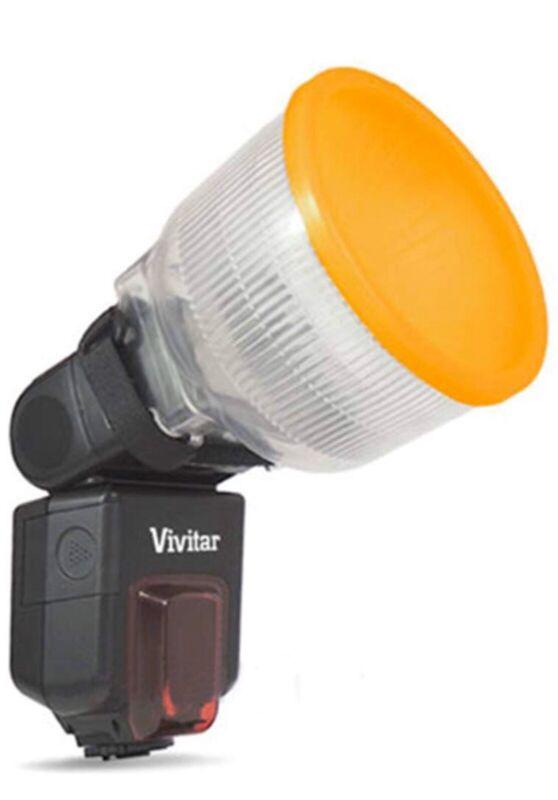 Cloud Lambency Flash Diffuser +Orange White Dome Cover for Canon Nikon