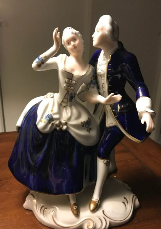 Bohemia Porcelain Czech Republic) — Royal Dux Dancing Couple 9 1