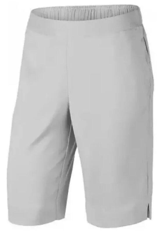 "Womens Size Large Nike Dri-Fit UV 11"" Bermuda Golf Shorts Wolf Gray AJ5663-012"