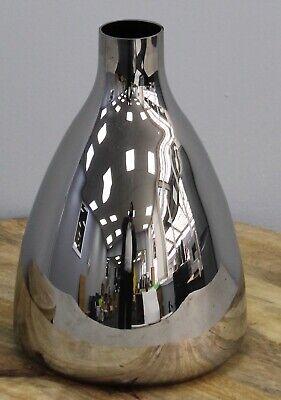 20cm Alto Plata Cristal Pirámide en Forma De Flor Jarrón Florero Botella...