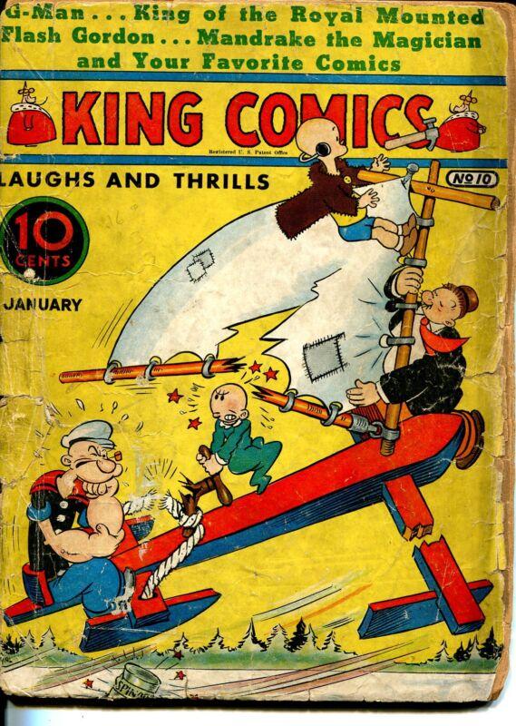 King #10 1937-David McKay-Popeye-Ace Drummond-Alex Raymond-Flash Gordon-P