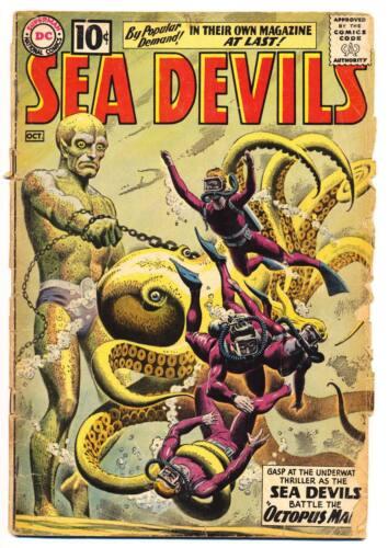 SEA DEVILS #1 FA, Low Grade, Russ Heath art, DC Comics 1961
