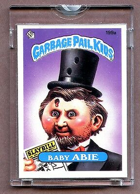 "1985 Topps GPK Garbage Pail Kids UNPUBLISHED Proof Set #199A "" Baby ABIE ! """