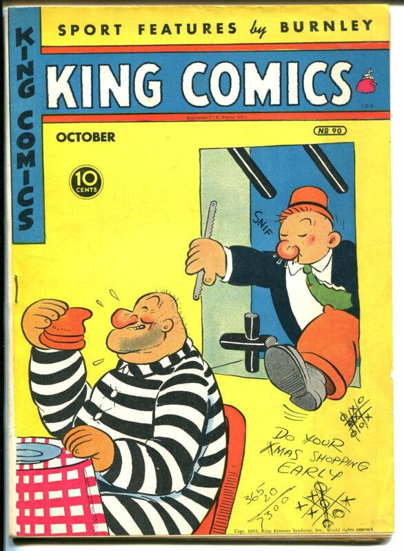 King #90 1943-David McKay-Popeye-Mandrake-Blondie-Flash Gordon-VF-